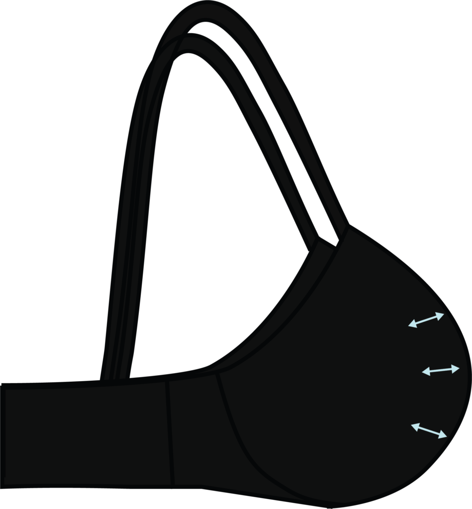 Illustration of a padded bra