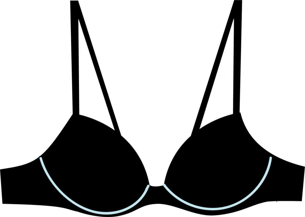 Illustration of an underwire bra