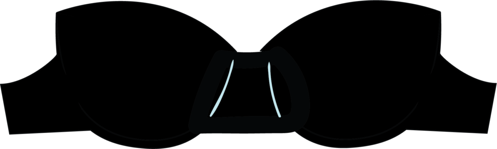 Illustration of a strapless bra