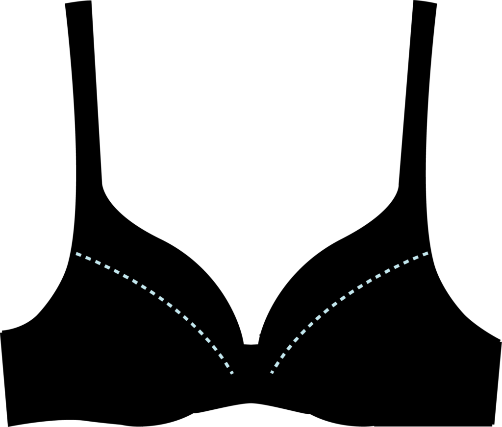 Illustration of a push-up bra