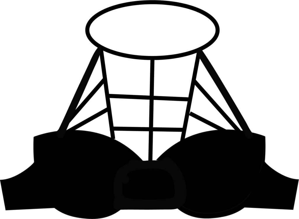 Illustration of a cage bra