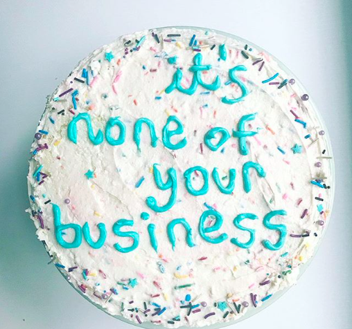 cake by The Sweet Feminist