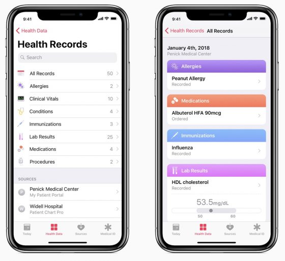 iOS 11.3 beta 1 Health
