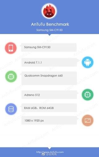 Samsung Galaxy C10 Plus в AnTuTu