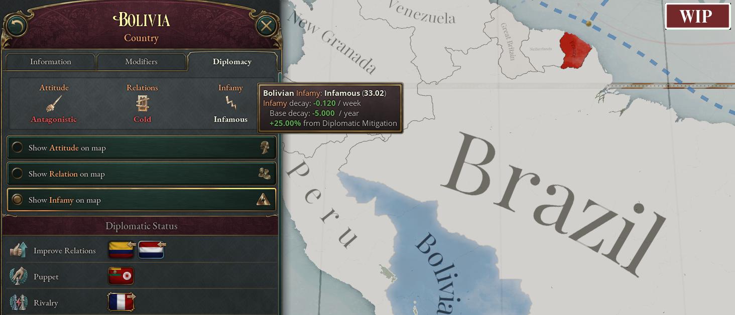 Bolivia Infamy