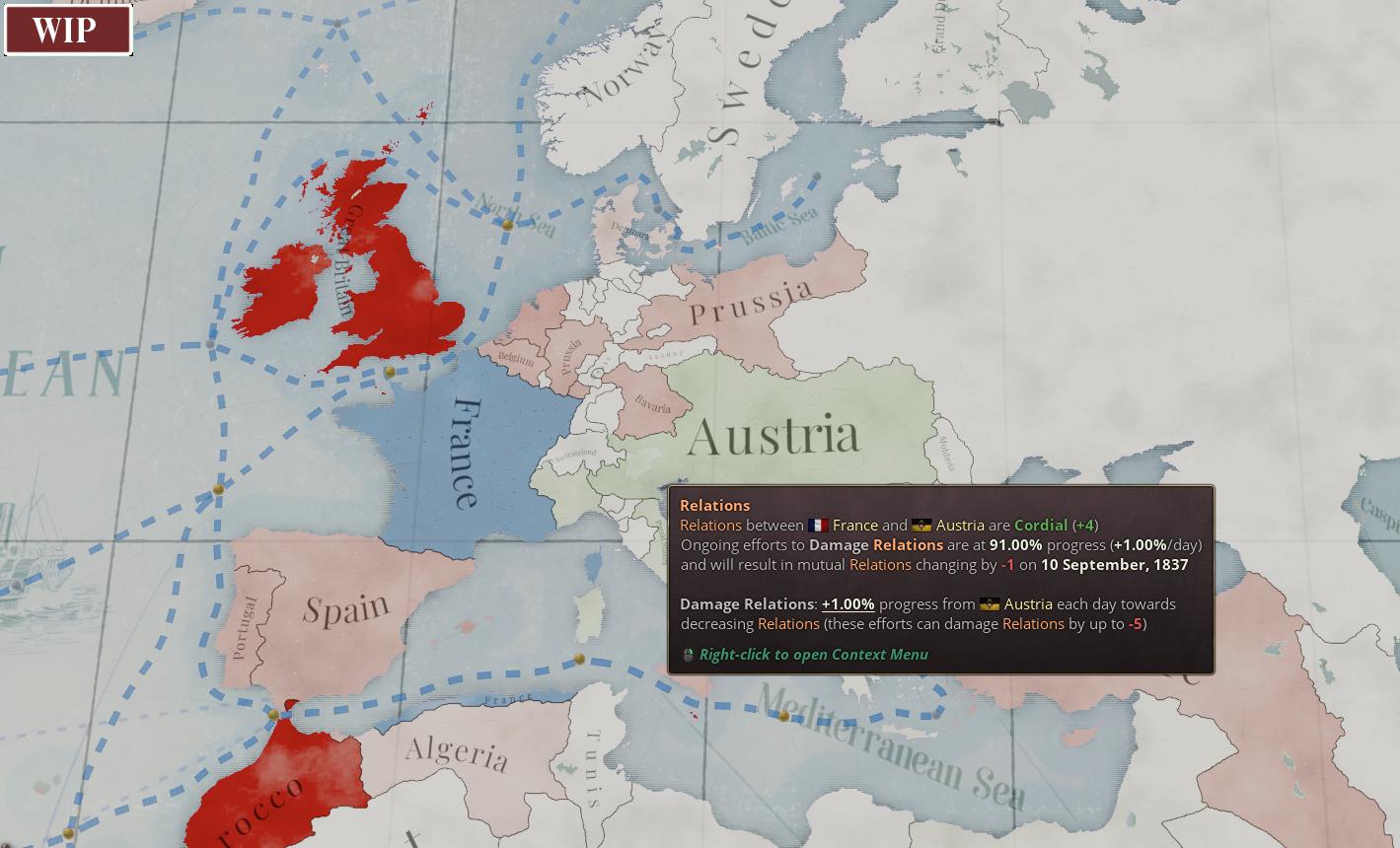 Diplomatic Relations Map Alt