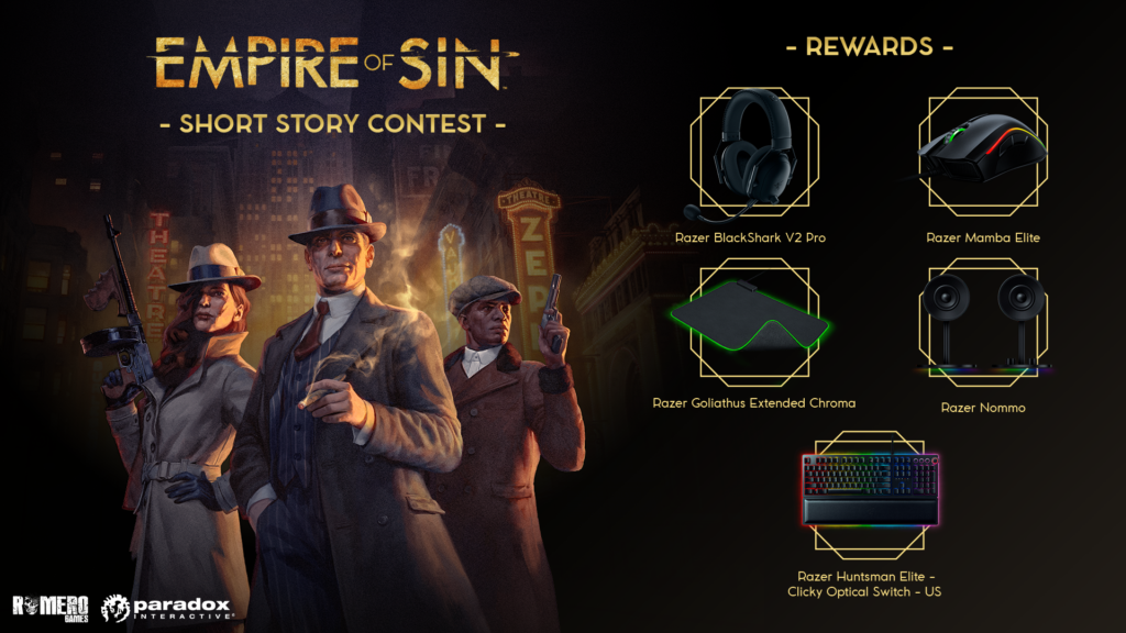 Write a mobster story, win grand prizes!