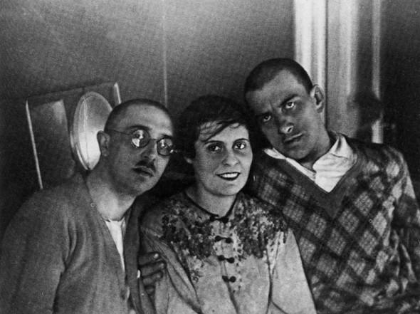 Лиля Брик, её муж Осип и Владимир Маяковский