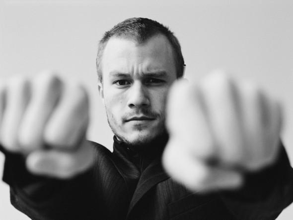 Heath Ledger Clenching Fists