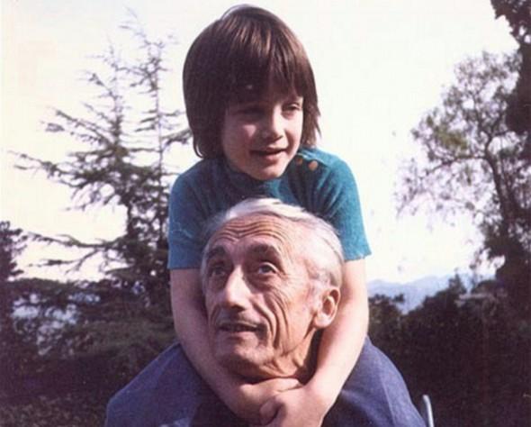 Жак-Ив Кусто с внуком Фабианом