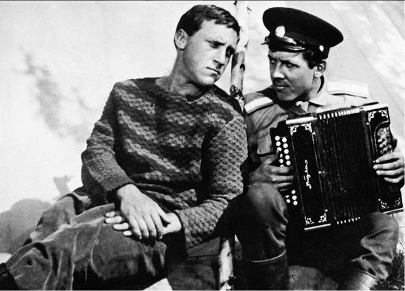 Золотухин со своим другом Владимиром Высоцким