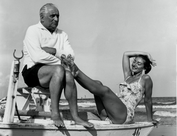 Мария Каллас с мужем Джованни Баттистой