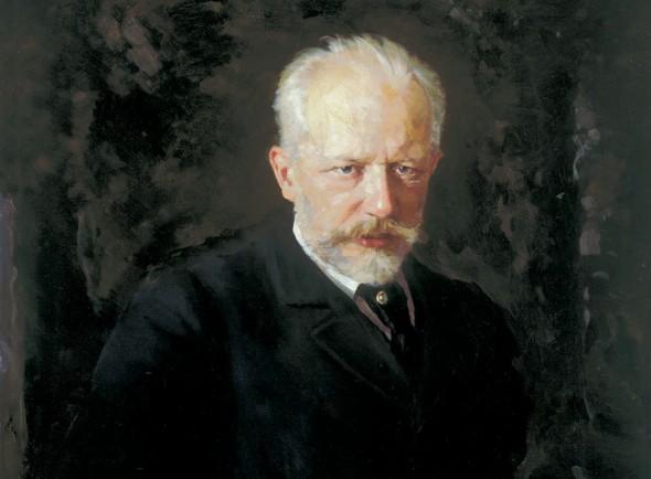 Портрет Петра Чайковского, художник Николай Кузнецов
