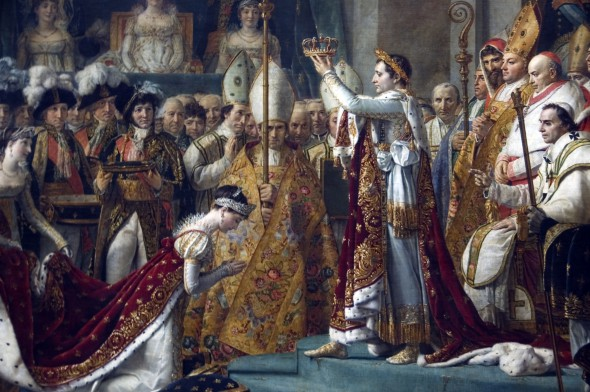 Картина французского художника Жака Луи Давида «Помазание Наполеона I и коронация Жозефины»