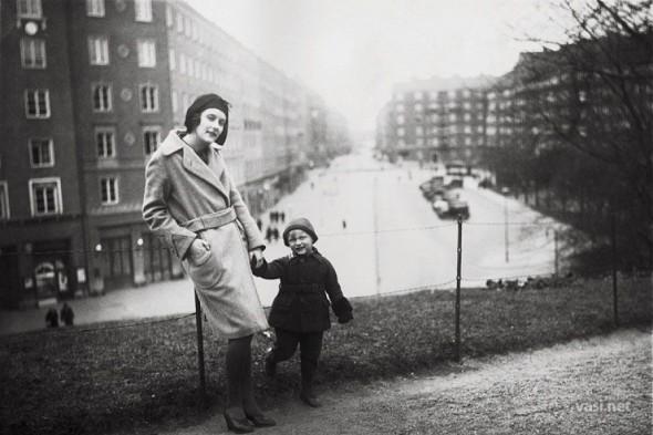 Астрид Линдгрен с сыном Ларсом