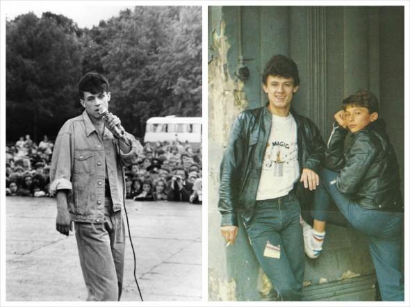 На фотографии справа Юрий Гуров со своим младшим братом Андреем