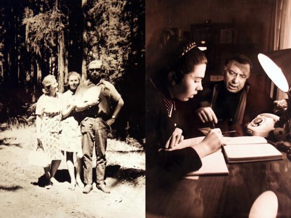 Анатолий Папанов с дочерью и женой (на фото слева). Дочь Папанова, Елена (на фото справа), пошла по стопам родителей и тоже стала актрисой