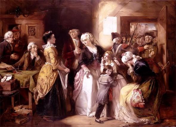 Арест Людовика XVI и его семьи во время попытки побега в 1971 году (художник Элмор Альфред)