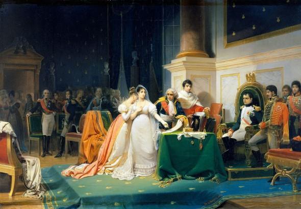 Развод императрицы Жозефины, художник Генри-Фредерик Шопин, 1843 г.