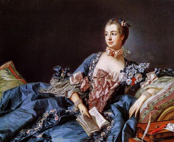Портрет мадам Помпадур, художник Франсуа Буше, 1758 г.