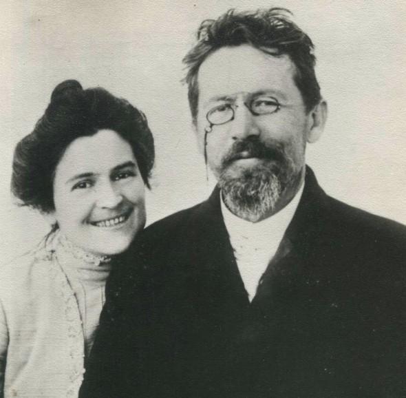 Антон Чехов со своей женой Ольгой Книппер