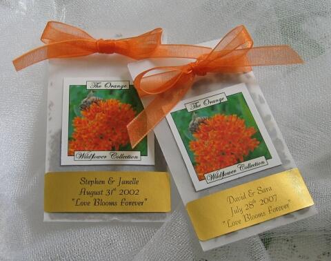 Похоронная открытка в виде пакета с семенами цветов