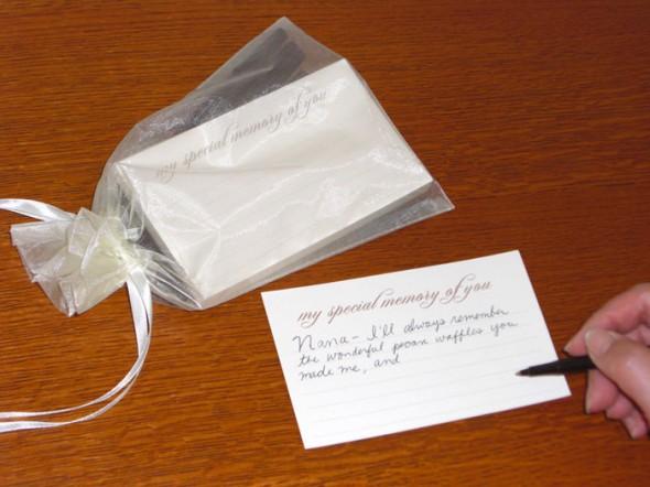 Похоронная открытка для заполнения приглашённым