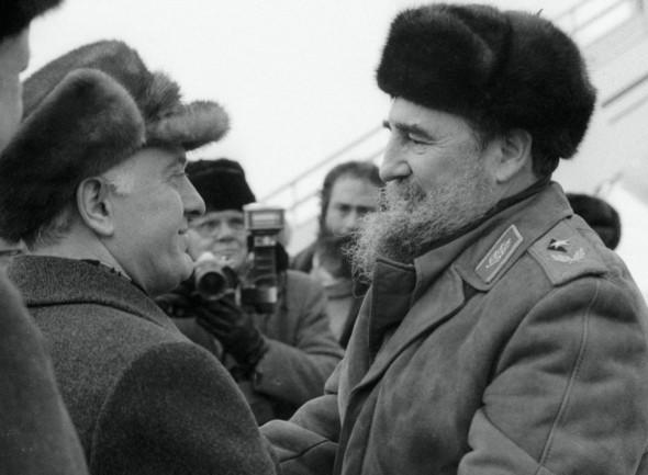 Эдуард Шеварднадзе и Фидель Кастро, февраль 1986 г.