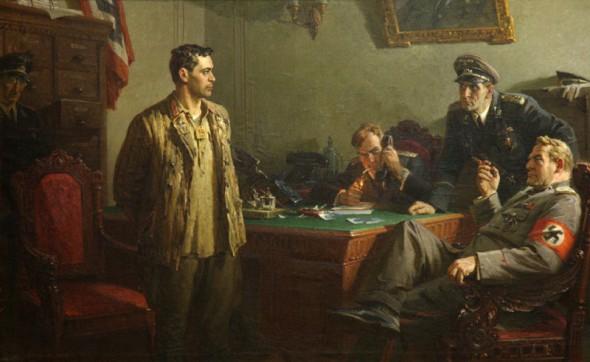 Картина «Перед приговором. Муса Джалиль», художник Харис Якупов (1954 г.)