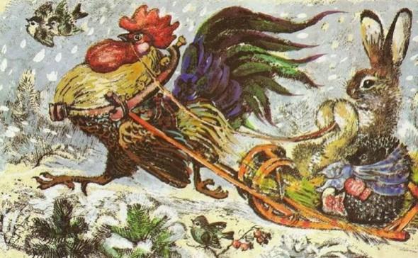 Иллюстрация из книги Чарушина «Про белочек, зайчат и веселых медвежат»