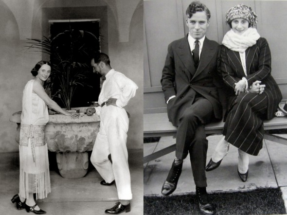 Анна Павлова и ее друг, русский художник эмигрант Александр Яковлев (слева), Анна Павлова с мужем Виктором Дандре (справа)