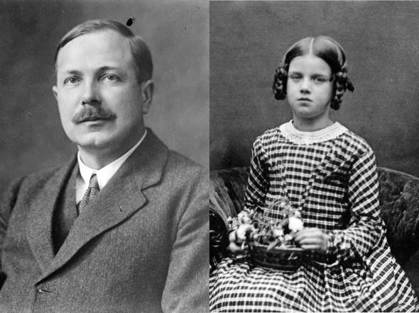 Фотопортреты Чарлза Дарвина и его дочери Энни