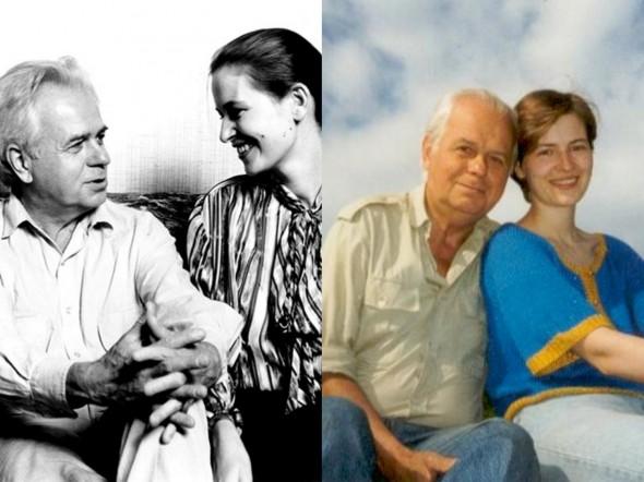 Денисов со своей второй женой Еленой Купровской