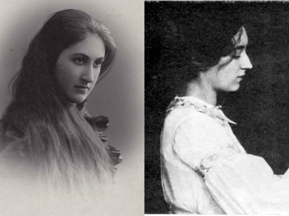 Жены Бунина - первая жена Анна (слева) и вторая жена Вера (справа)