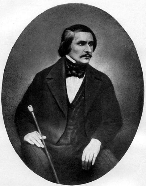 Даггеротипный портрет Н. В. Гоголя, созданный фотографом С. Левицким в Риме в 1845 г.