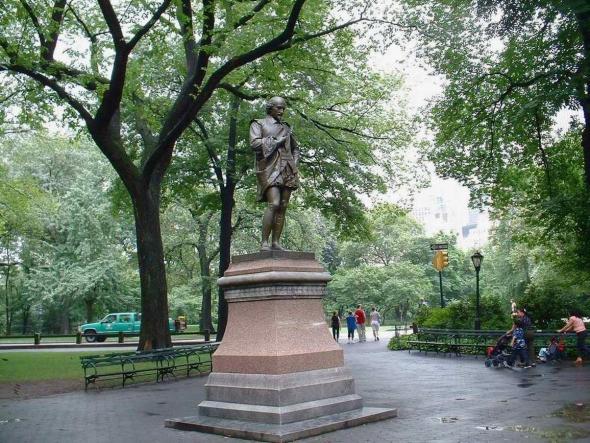 Памятник Шекспиру в Центральном парке, Нью-Йорк