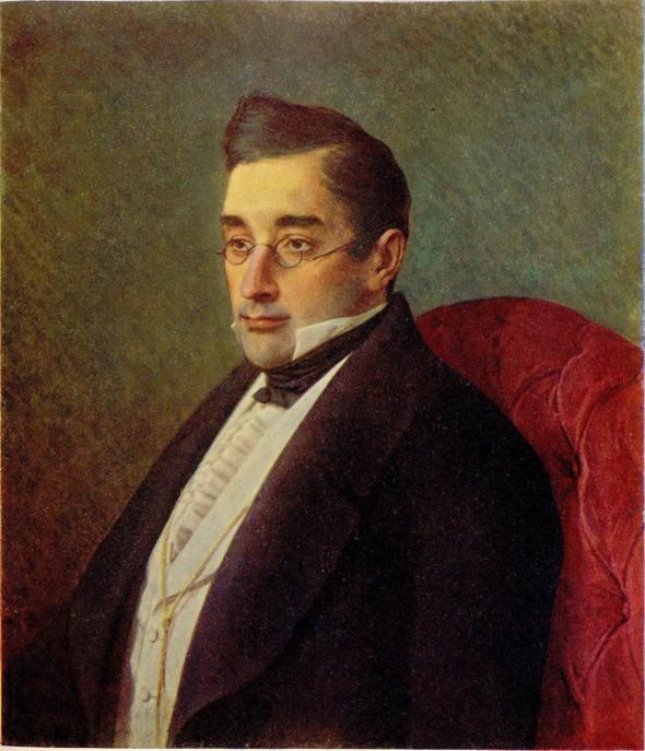 Портрет Грибоедова кисти И. Крамского, 1875 г.