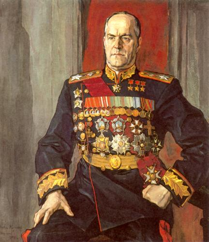 Портрет Жукова кисти П. Корина (1945 г.)