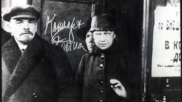 Ленин с супругой Надеждой Крупской