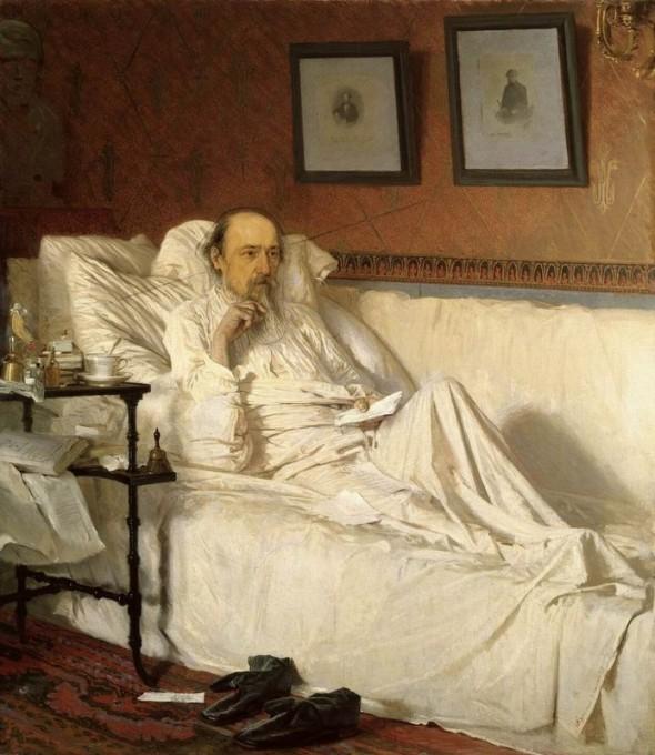 Некрасов в последние годы жизни, портрет кисти И. Крамского