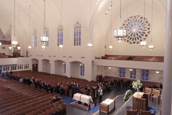 Отпевание Вана Клиберна в Бродвейской баптистской церкви в Форт-Уорте
