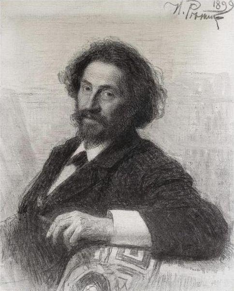 Автопортрет И. Репина (1899 г.)