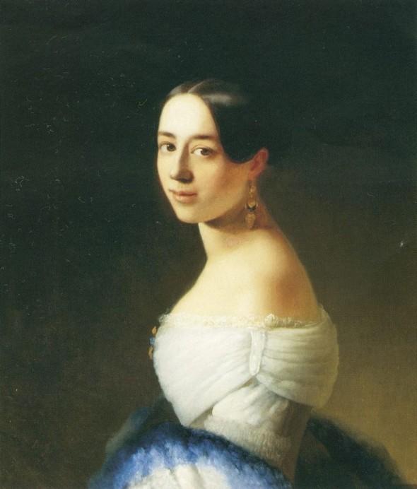 Портрет П. Виардо кисти Т. Неффа, 1842 г.