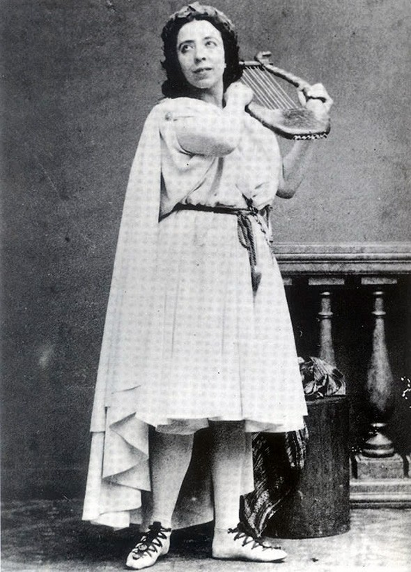 Полина Виардо в роли Орфея