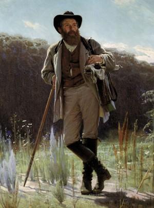 Портрет И. Шишкина кисти И. Крамского (1873 г.)