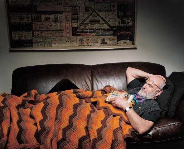 Оливер Сакс у себя дома в Гринвич-вилледж