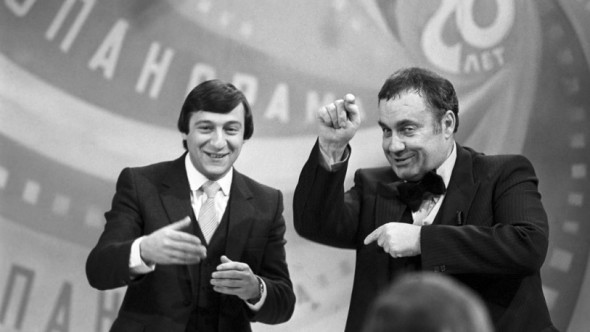 """С Геннадием Хазановым в передаче """"Кинопанорама"""""""