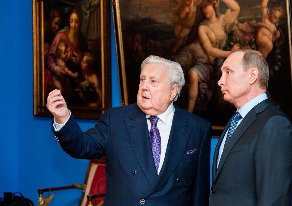 Илья Глазунов с президентом РФ Владимиром Путиным (2015 г.)