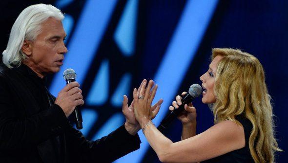Дмитрий Хворостовский с Ларой Фабиан на фестивале «Новая волна»