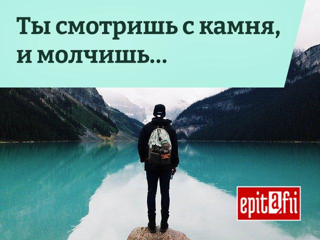 Эпитафия: Ты смотришь с камня и молчишь...